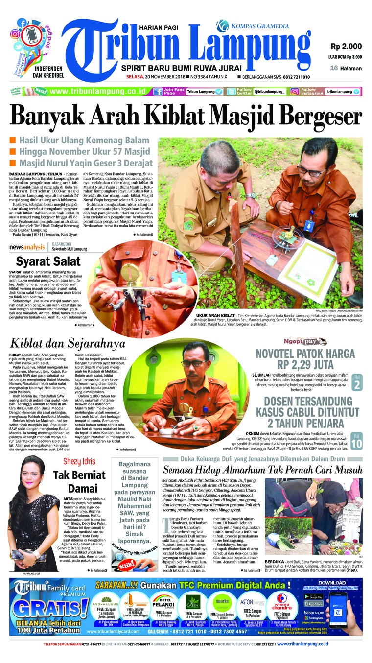 Koran Digital Tribun Lampung 20 November 2018