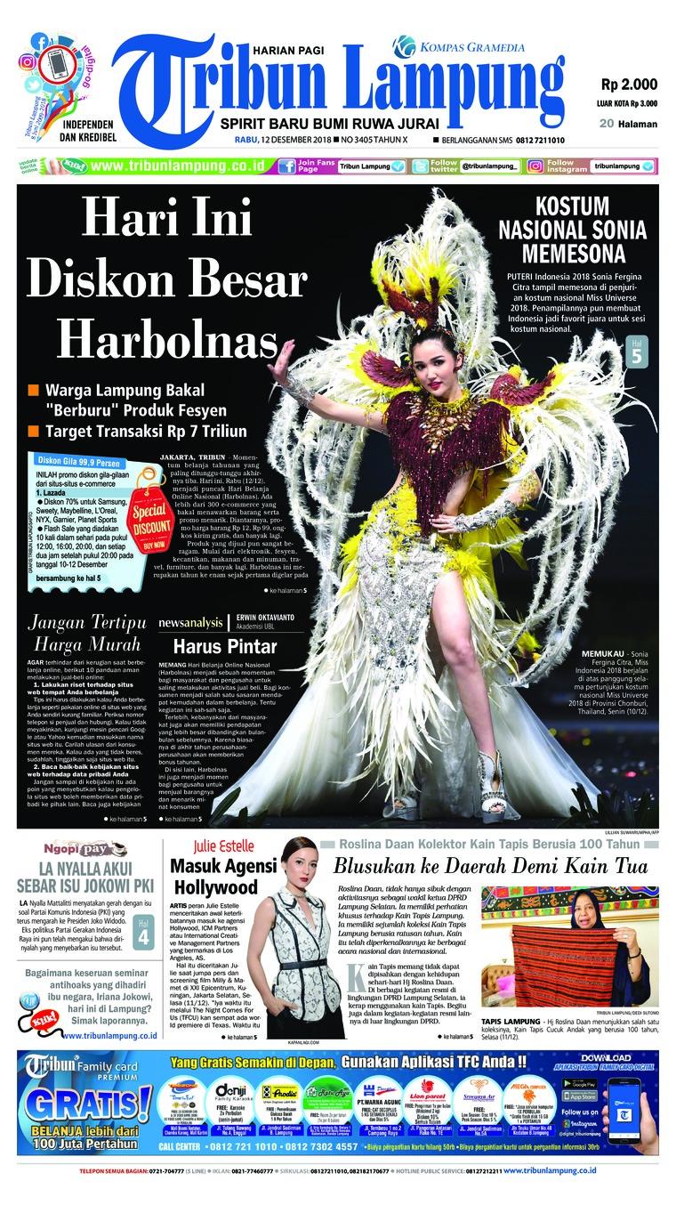 Koran Digital Tribun Lampung 12 Desember 2018