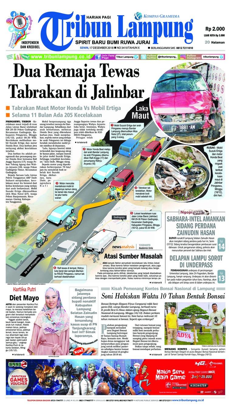 Koran Digital Tribun Lampung 17 Desember 2018