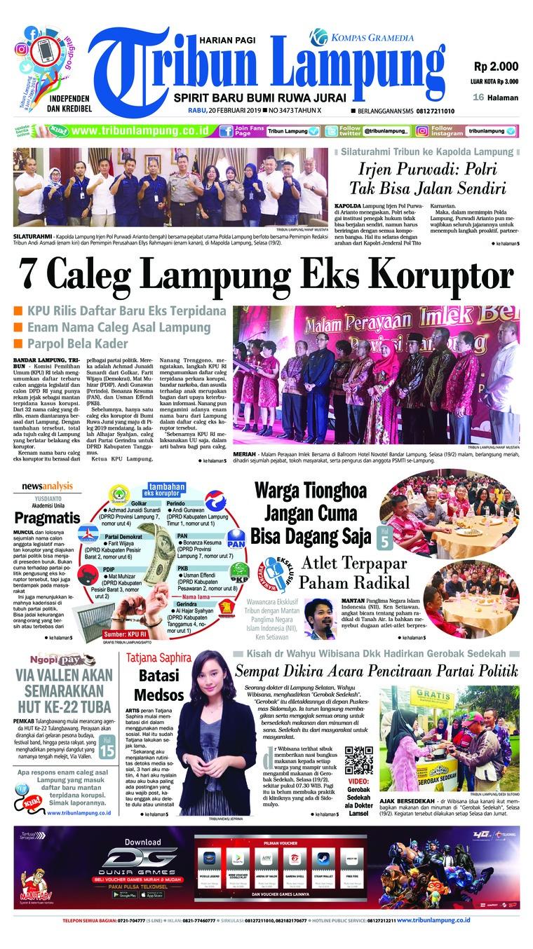 Koran Digital Tribun Lampung 20 Februari 2019