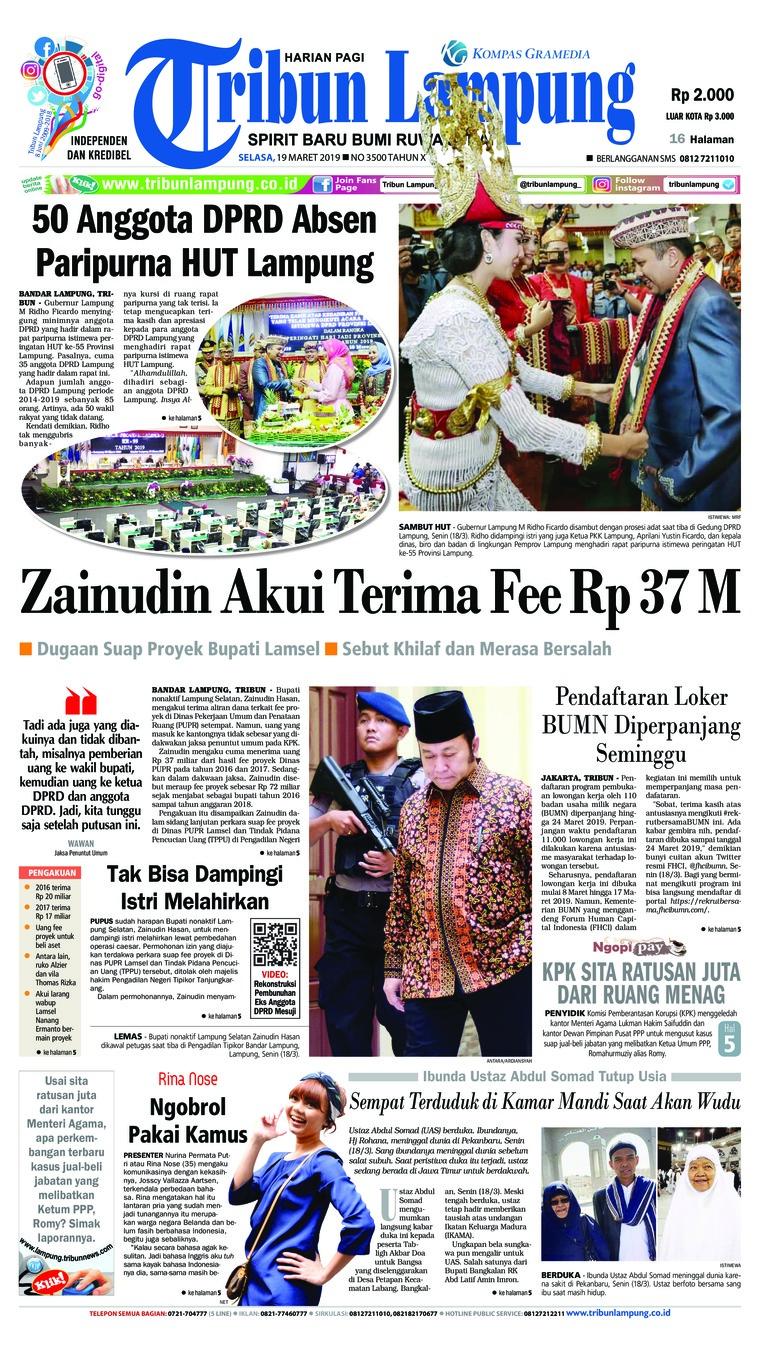 Koran Digital Tribun Lampung 19 Maret 2019