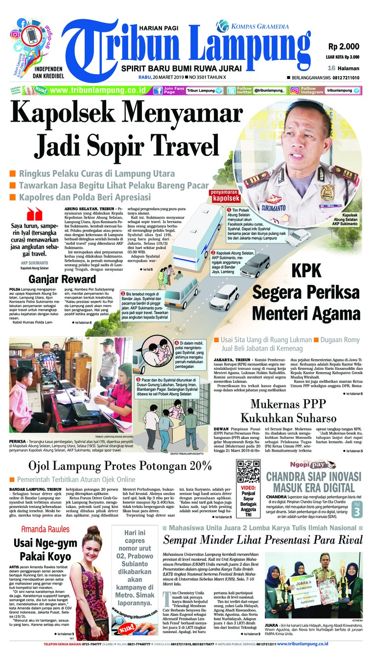 Tribun Lampung Digital Newspaper 20 March 2019