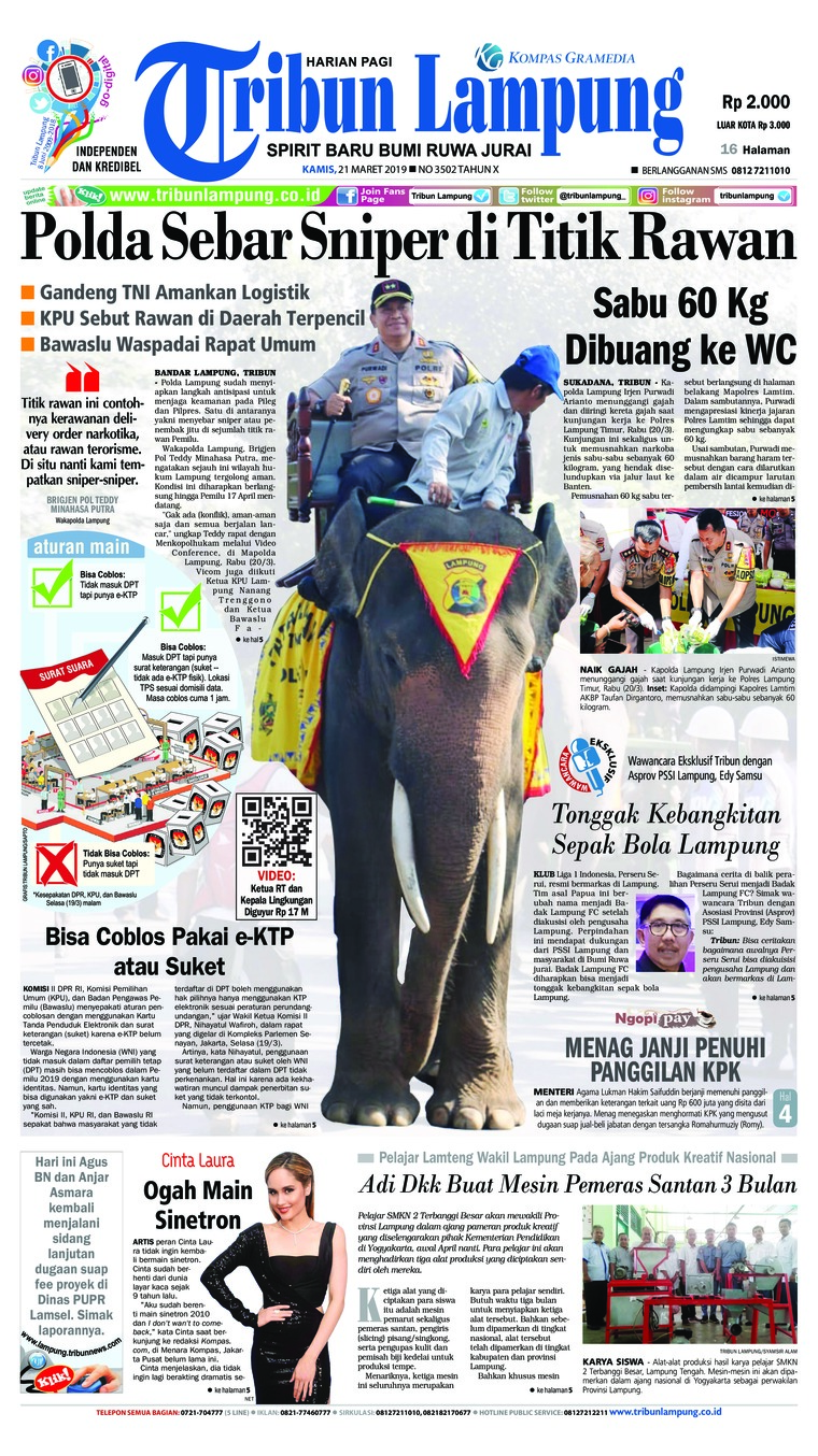 Koran Digital Tribun Lampung 21 Maret 2019