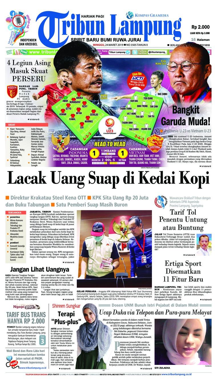Koran Digital Tribun Lampung 24 Maret 2019