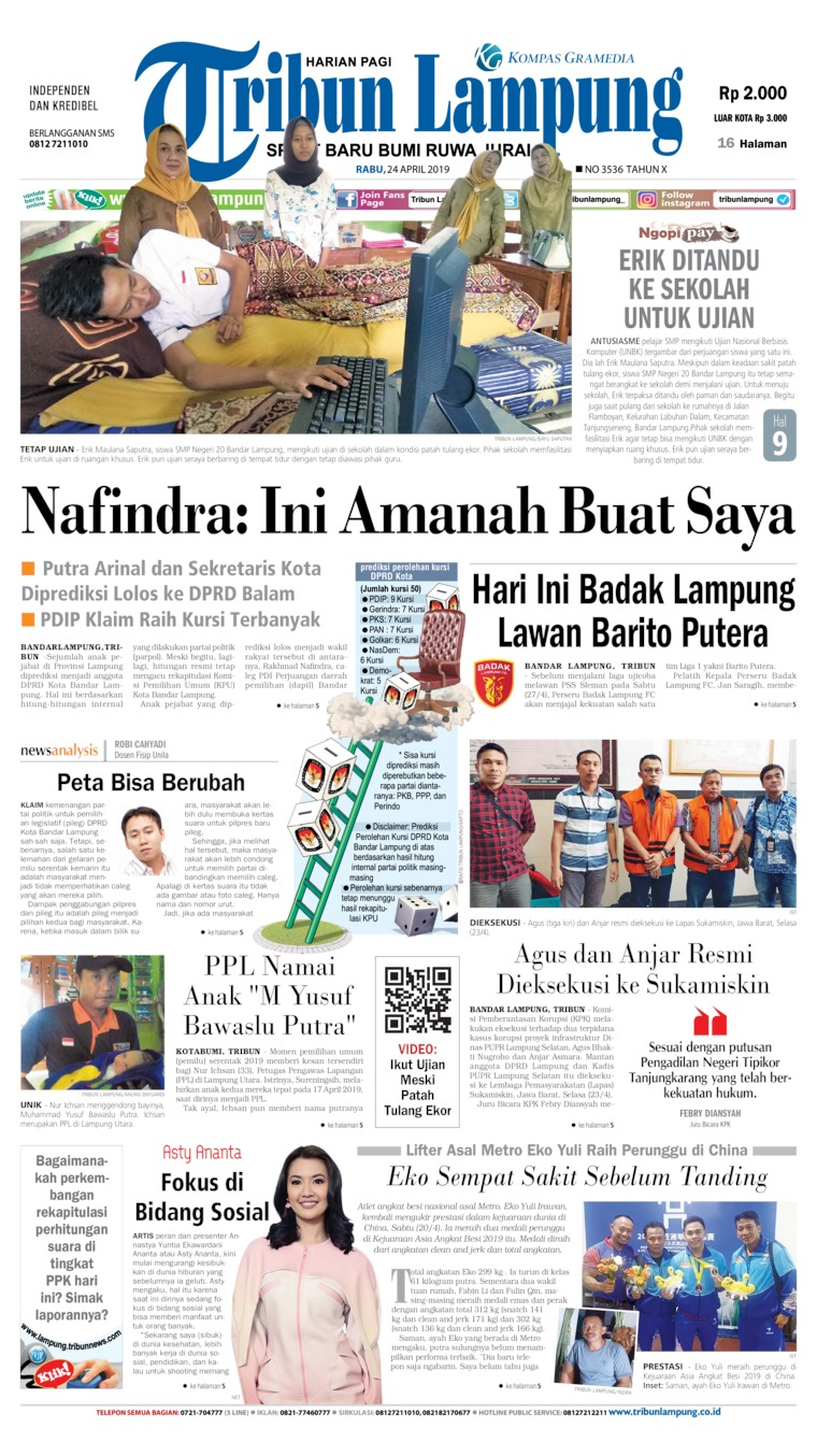 Koran Digital Tribun Lampung 24 April 2019