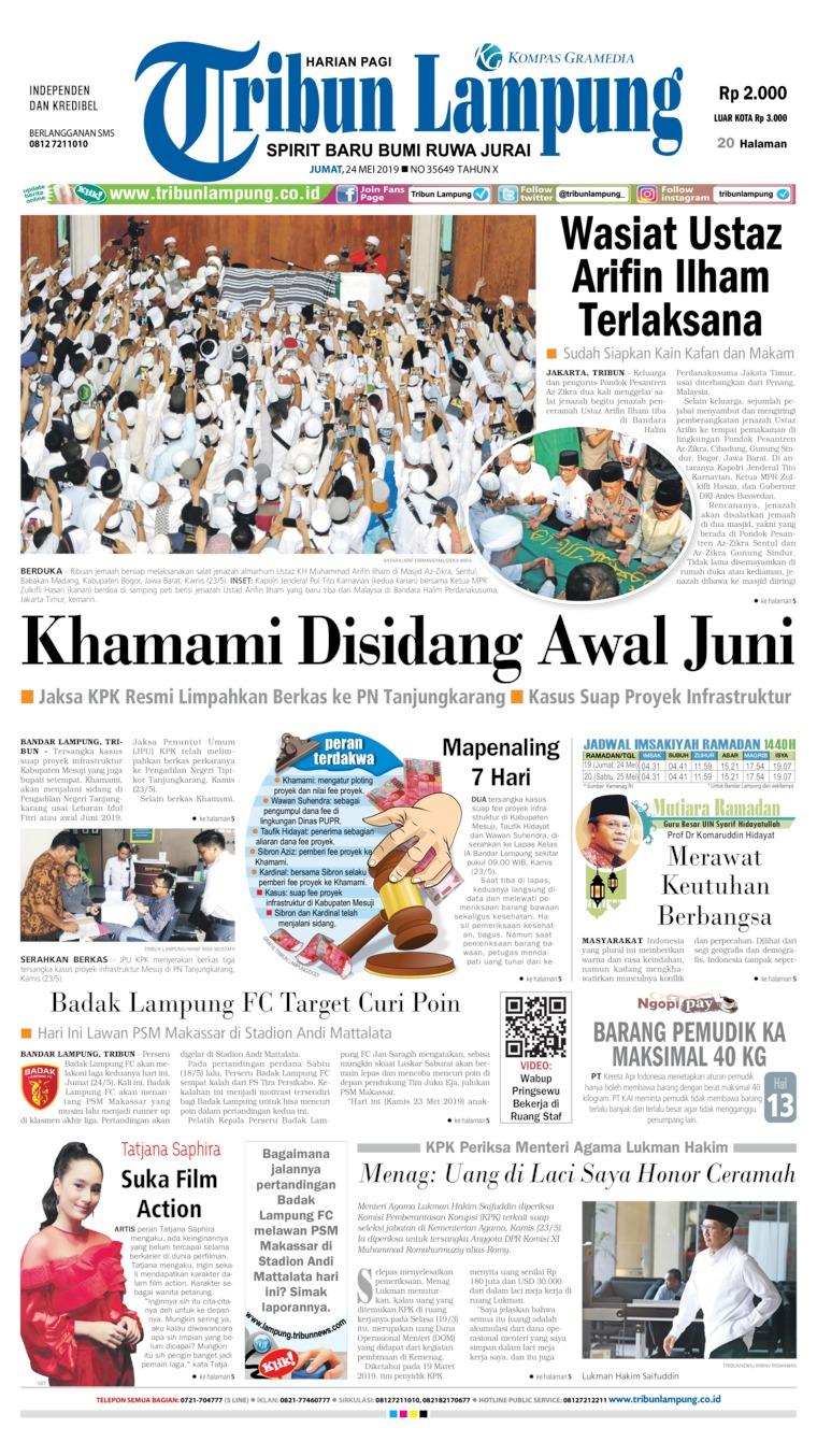 Koran Digital Tribun Lampung 24 Mei 2019