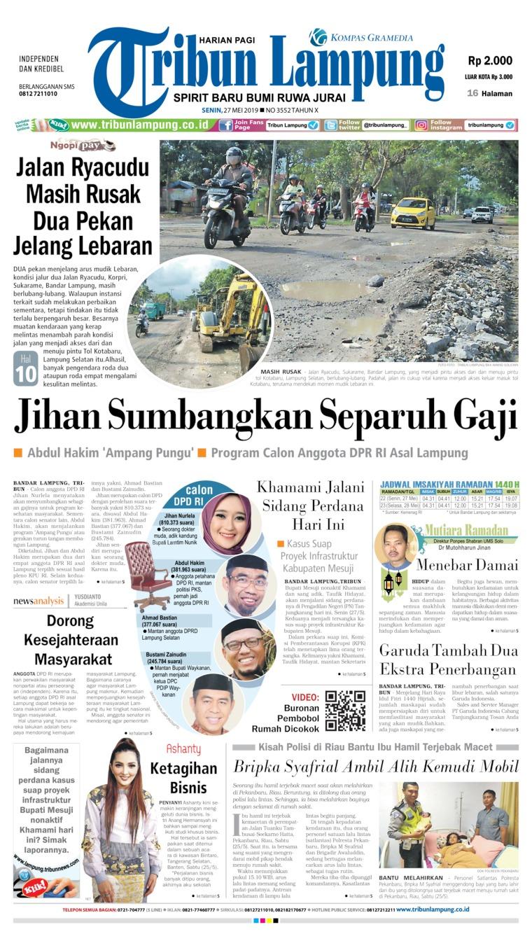 Koran Digital Tribun Lampung 27 Mei 2019