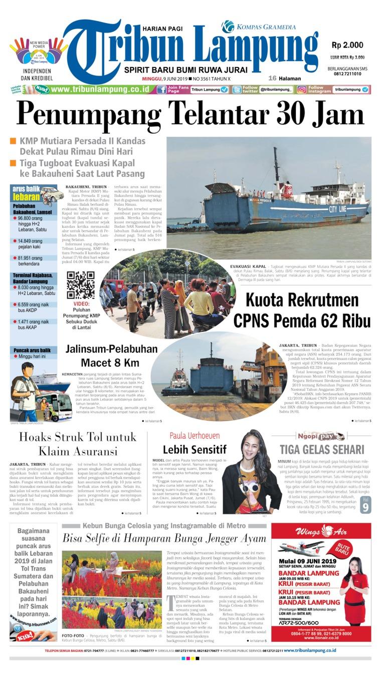Tribun Lampung Digital Newspaper 09 June 2019