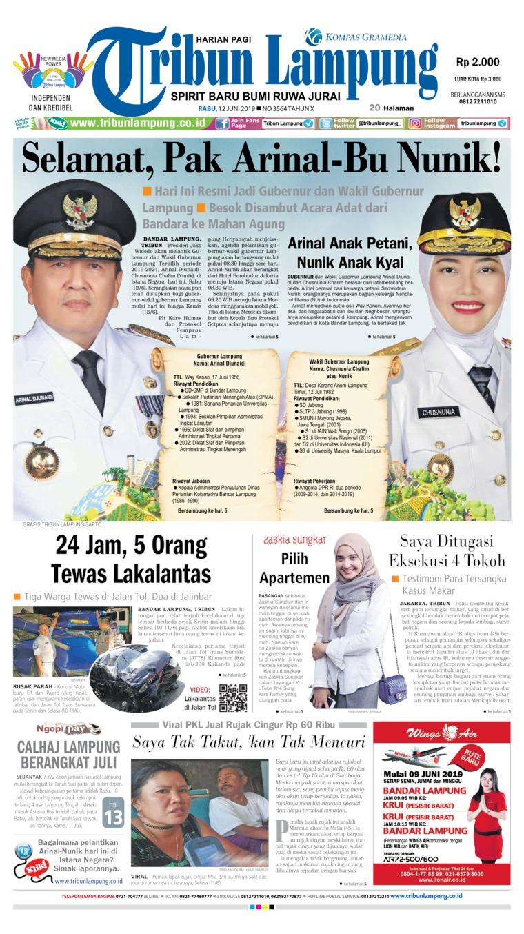 Tribun Lampung Digital Newspaper 12 June 2019