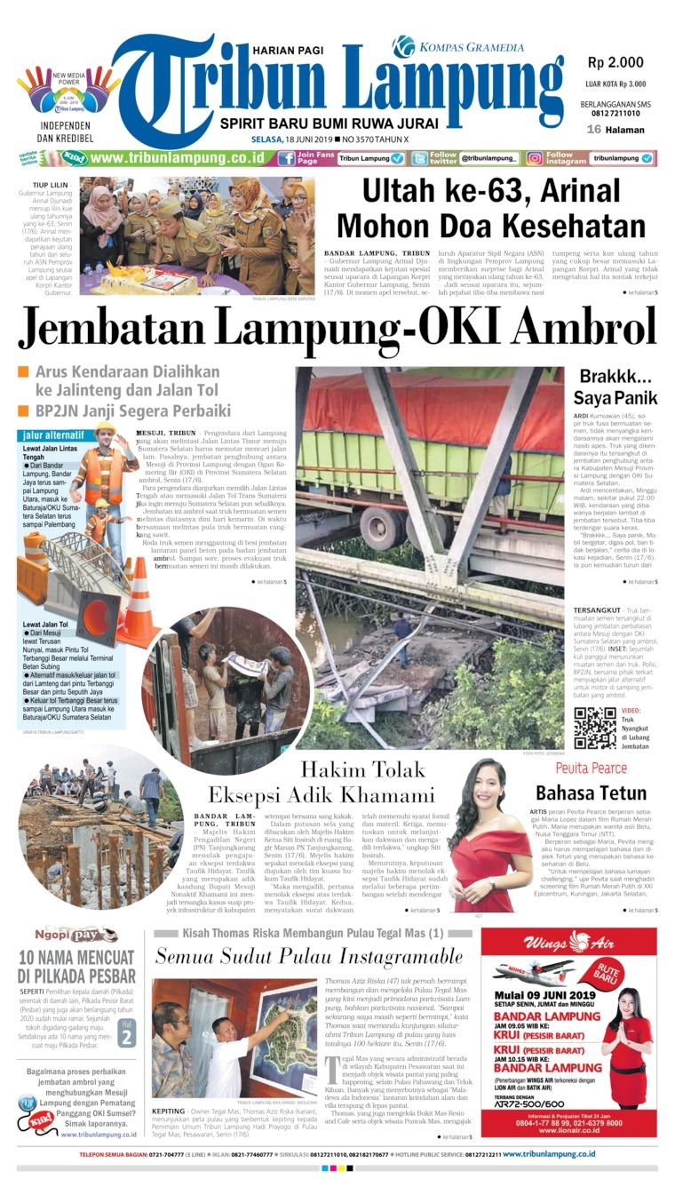 Koran Digital Tribun Lampung 18 Juni 2019