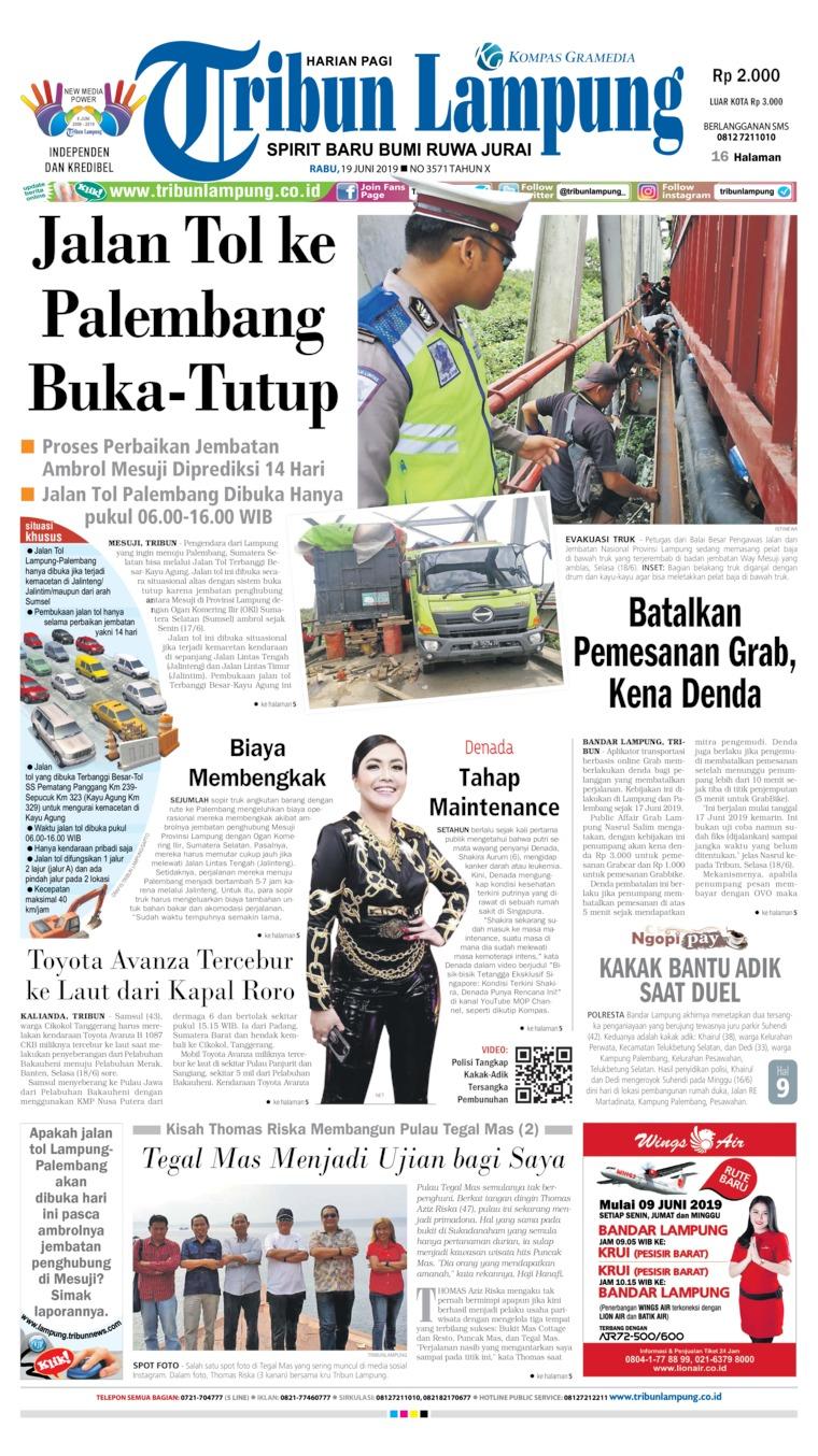 Koran Digital Tribun Lampung 19 Juni 2019
