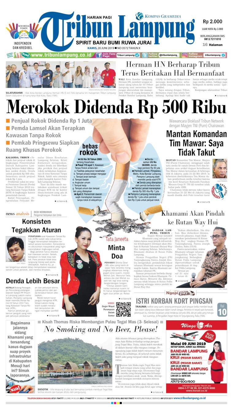 Koran Digital Tribun Lampung 20 Juni 2019