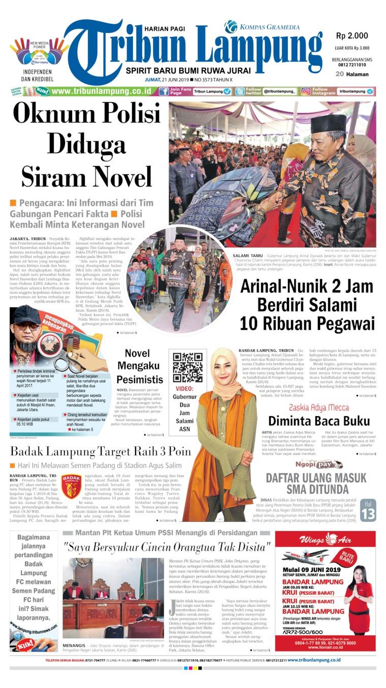 Koran Digital Tribun Lampung 21 Juni 2019