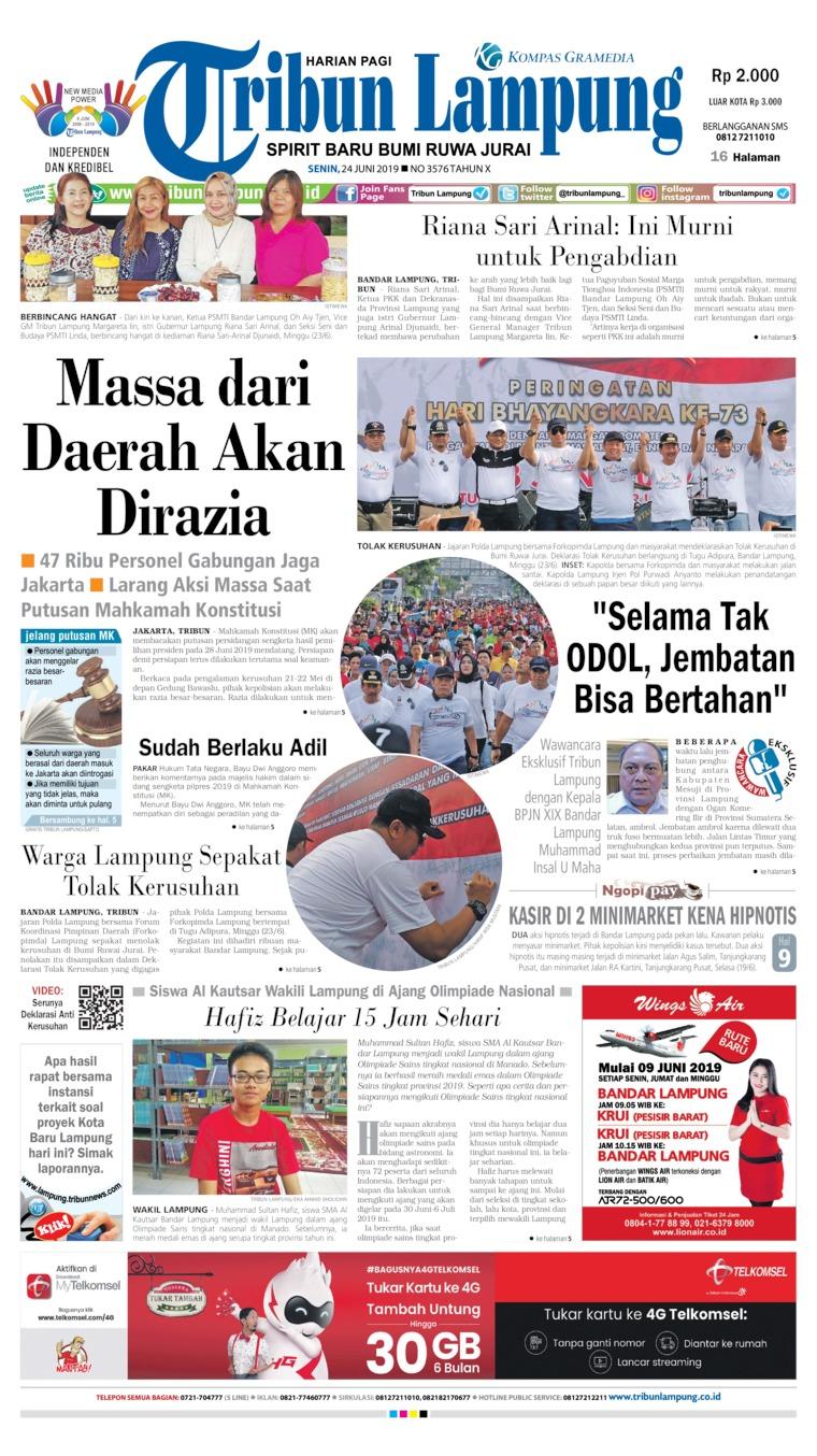 Koran Digital Tribun Lampung 24 Juni 2019
