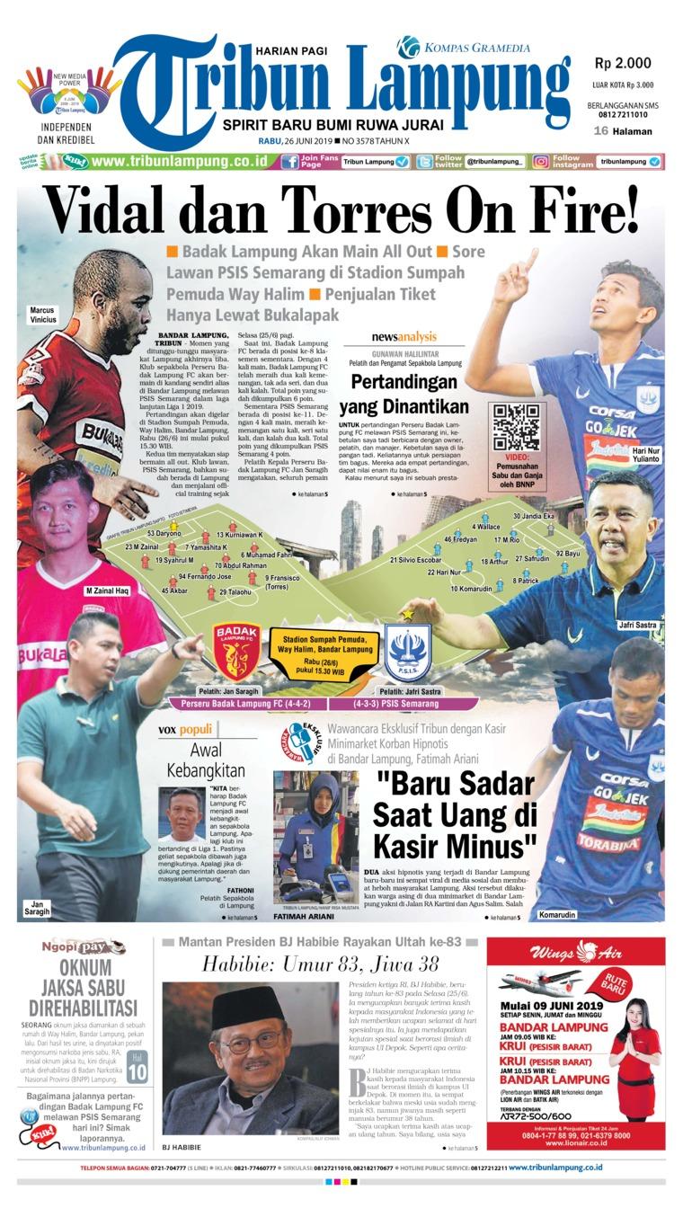 Koran Digital Tribun Lampung 26 Juni 2019