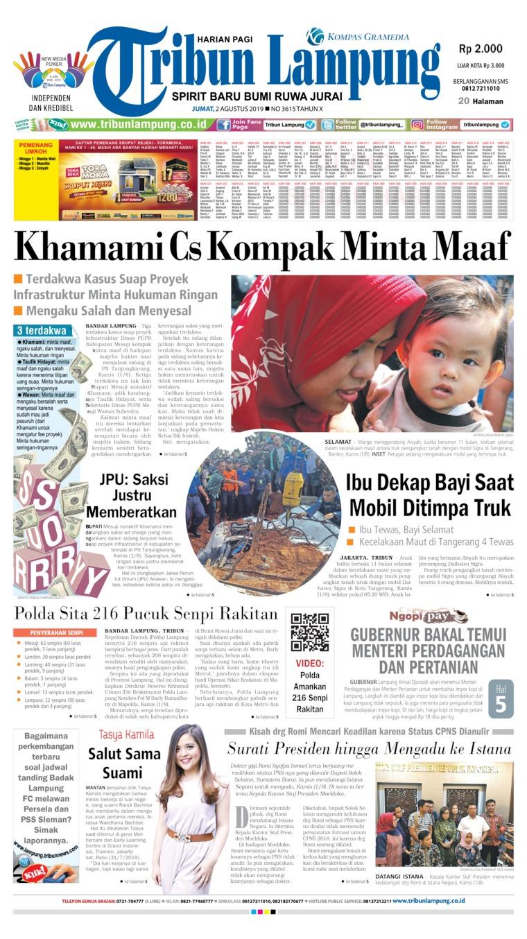 Koran Digital Tribun Lampung 02 Agustus 2019
