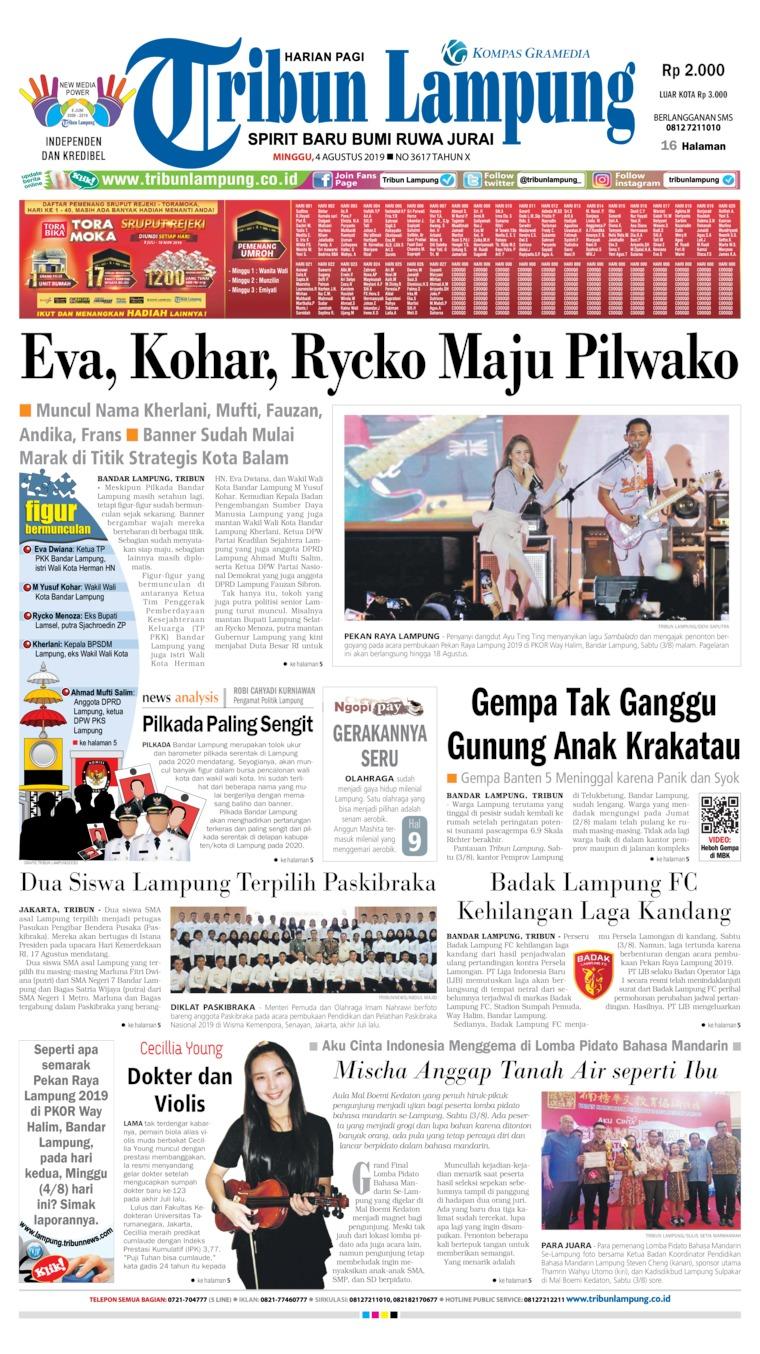 Koran Digital Tribun Lampung 04 Agustus 2019