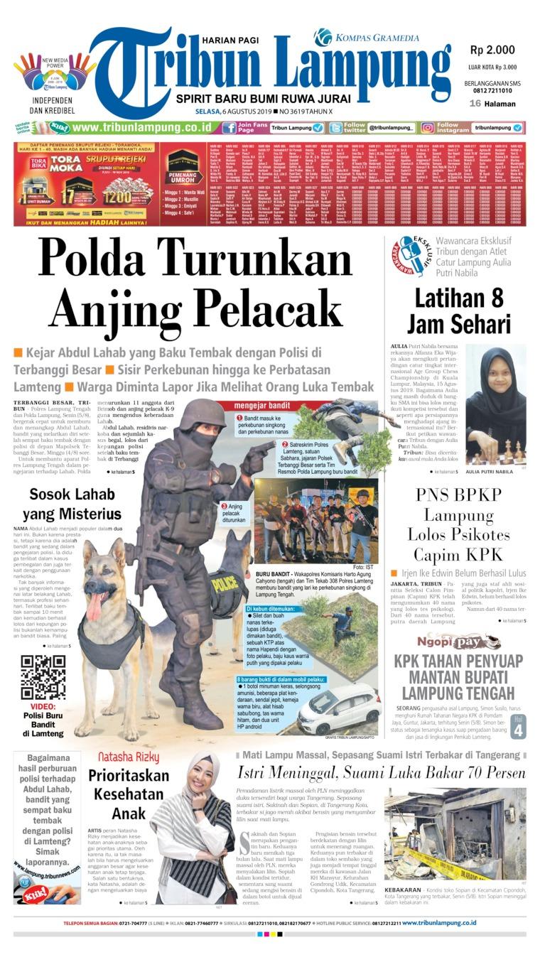 Koran Digital Tribun Lampung 06 Agustus 2019