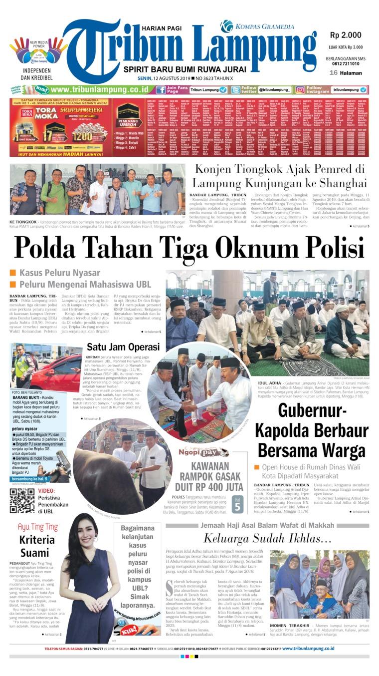 Koran Digital Tribun Lampung 12 Agustus 2019