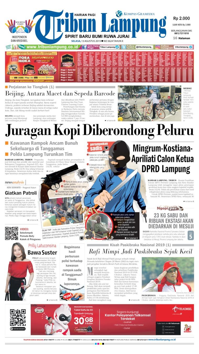 Koran Digital Tribun Lampung 13 Agustus 2019