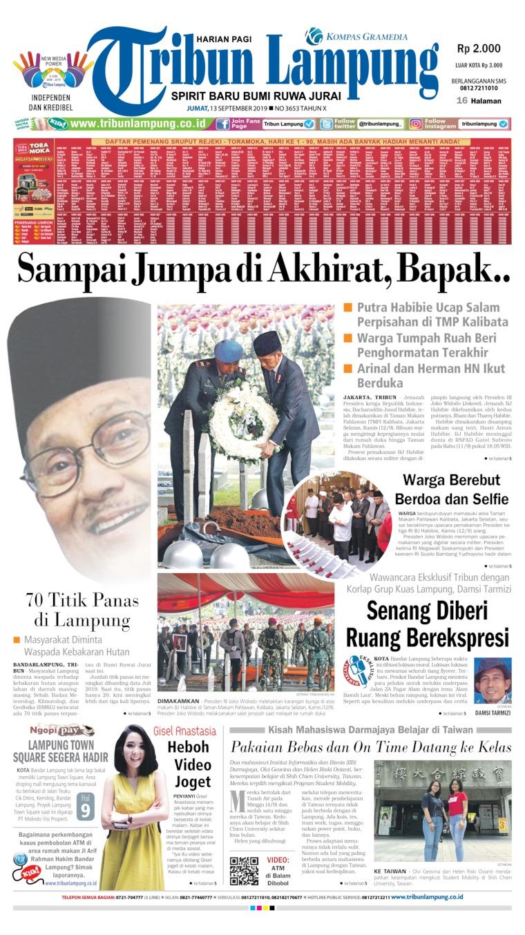 Koran Digital Tribun Lampung 13 September 2019