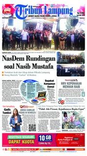 Cover Tribun Lampung 19 Februari 2018