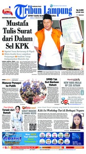 Cover Tribun Lampung 21 Februari 2018