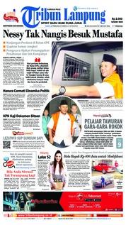 Cover Tribun Lampung 22 Februari 2018