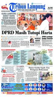 Cover Tribun Lampung 24 Februari 2018