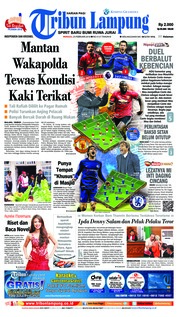 Tribun Lampung Cover 25 February 2018