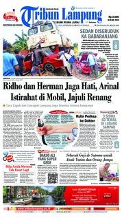 Cover Tribun Lampung 26 Februari 2018