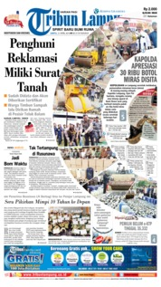 Cover Tribun Lampung 21 April 2018
