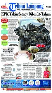 Cover Tribun Lampung 24 April 2018