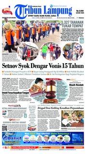 Cover Tribun Lampung 25 April 2018