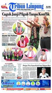 Cover Tribun Lampung 26 April 2018