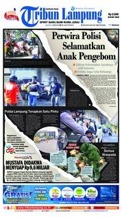 Cover Tribun Lampung 15 Mei 2018