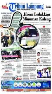 Cover Tribun Lampung 16 Mei 2018