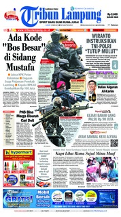 Cover Tribun Lampung 18 Mei 2018