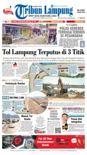 Cover Tribun Lampung 19 Mei 2018