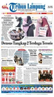 Cover Tribun Lampung 21 Mei 2018