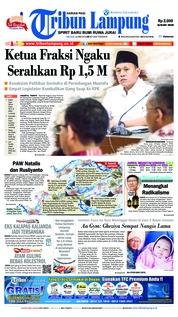 Cover Tribun Lampung 22 Mei 2018