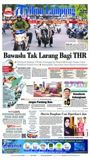Cover Tribun Lampung 23 Mei 2018