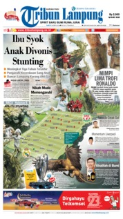 Cover Tribun Lampung 26 Mei 2018