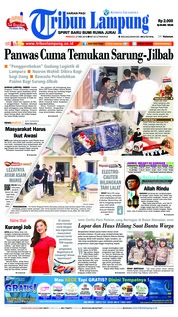 Cover Tribun Lampung 27 Mei 2018