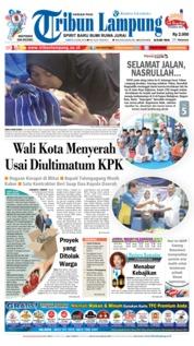 Cover Tribun Lampung 09 Juni 2018