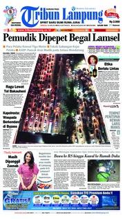 Cover Tribun Lampung 10 Juni 2018