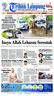 Cover Tribun Lampung 13 Juni 2018
