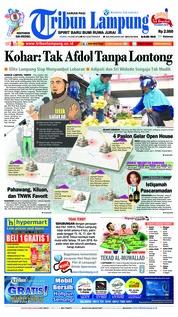 Cover Tribun Lampung 14 Juni 2018