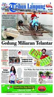 Cover Tribun Lampung 19 Juni 2018