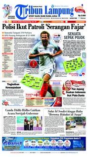 Cover Tribun Lampung 24 Juni 2018